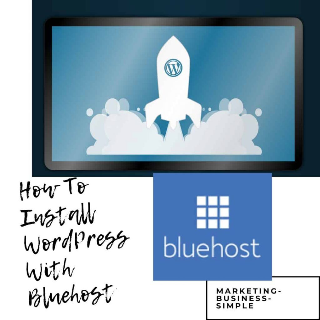 how to install WordPress with Bluehost